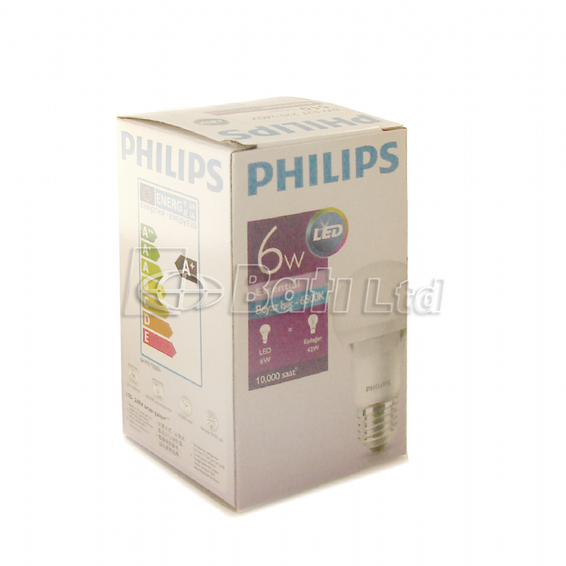 Philips Led Ampul 6 Watt Beyaz Işık 6500 K Led Lamba